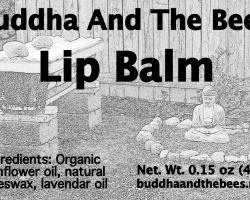 First lip balm label (March 2014)