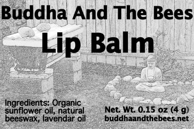 First lip balm label (March 2014)