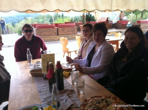 Lunch at the Slovenian Beekeeping Center - president at the end of the table, Tonja on the right