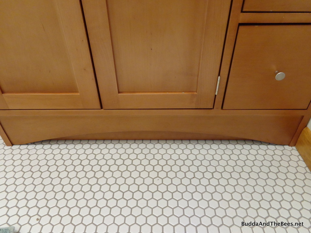 Honeycomb tile in guest bath