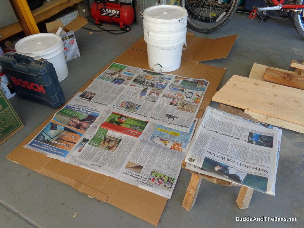Setup for honey processing